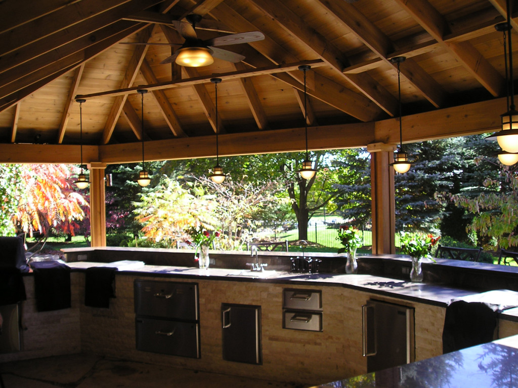 Outdoor Kitchen Structures : Outdoor bars and kitchens cedar wood structures