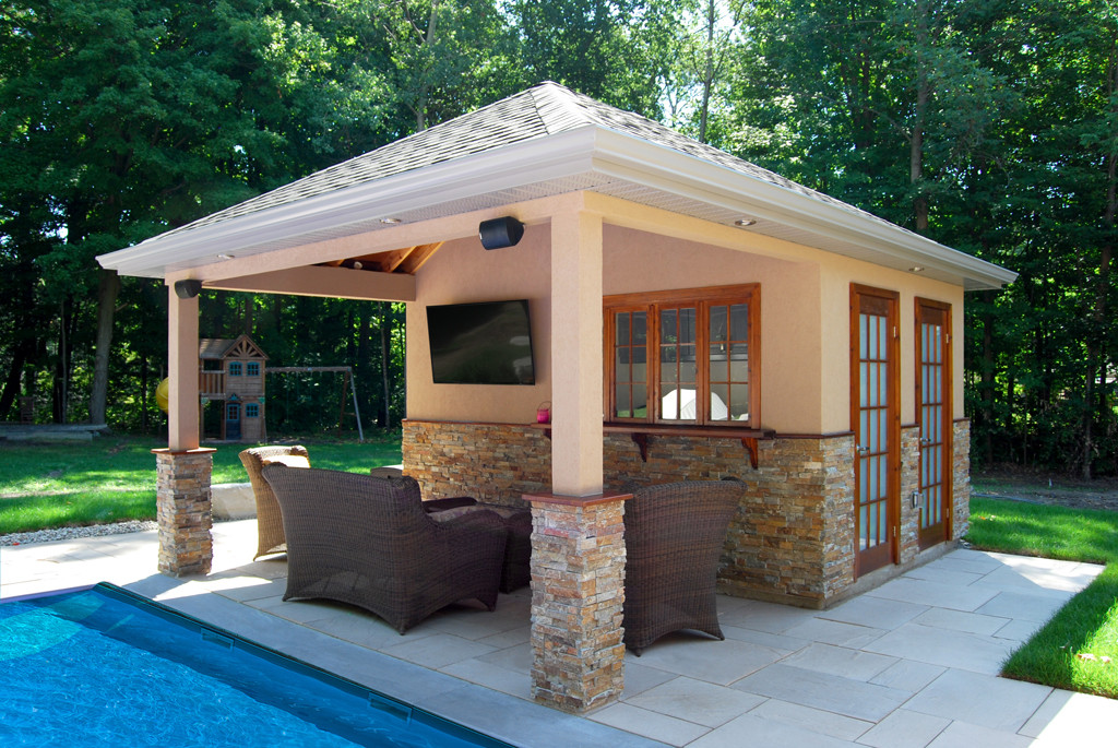 Custom Pool Cabanas Pool House Cedar Wood Structures