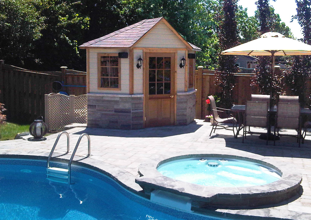 Standard Pool Cabanas And Sheds Toronto Oakville Ontario