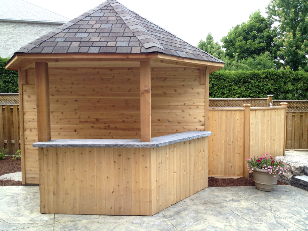 Standard pool cabanas and sheds toronto oakville ontario for Outdoor kitchen shed