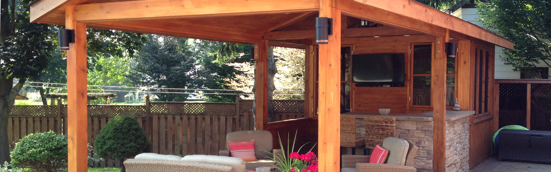 Custom Outdoor Structures Pool Cabanas Toronto Cedar Wood