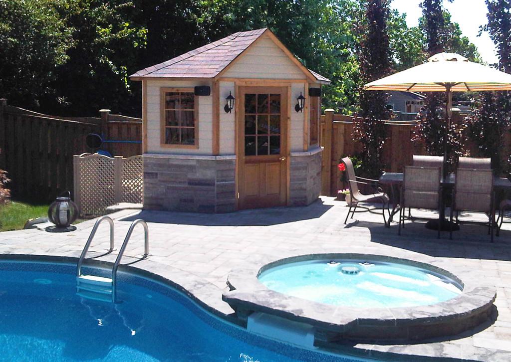 Standard Pool Cabanas And Sheds Toronto Oakville Ontario